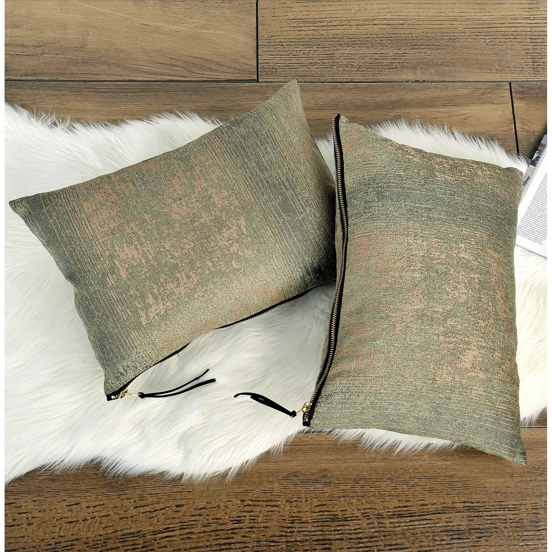 The Curated Nomad Peralta 2 Piece Jacquard Chenille Zipper Lumbar Pillow Set Overstock 26269905
