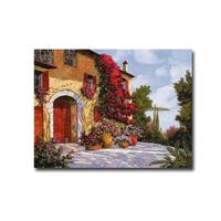 Bouganville by Guido Borelli Gallery Wrapped Canvas Giclee Art (24 in x 32 in, Ready to Hang)