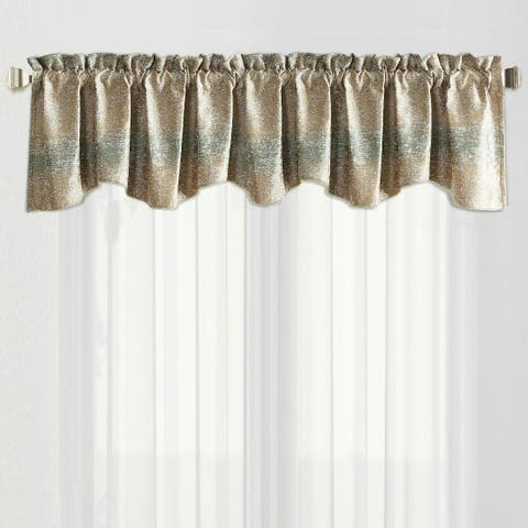 The Curated Nomad Peralta Jacquard Chenille Rod Pocket Window Valance Curtain