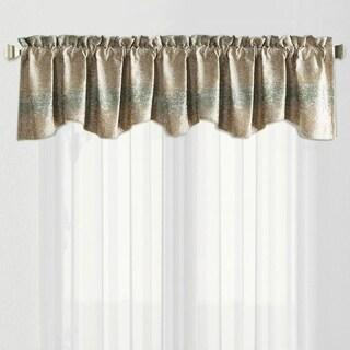 Serenta Jacquard Chenille Rod Pocket Galaxy Window Valance Curtain