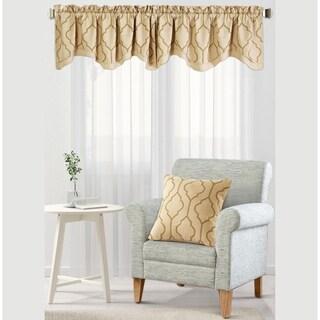 "Serenta Jasper Embroidery Window Valance & Pillow Shell Set - 56"" x 19"""