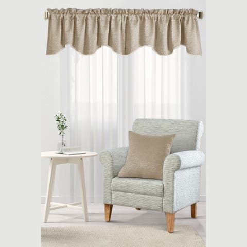 The Curated Nomad Peralta Jacquard Chenille Window Valance & Pillow Shell Set