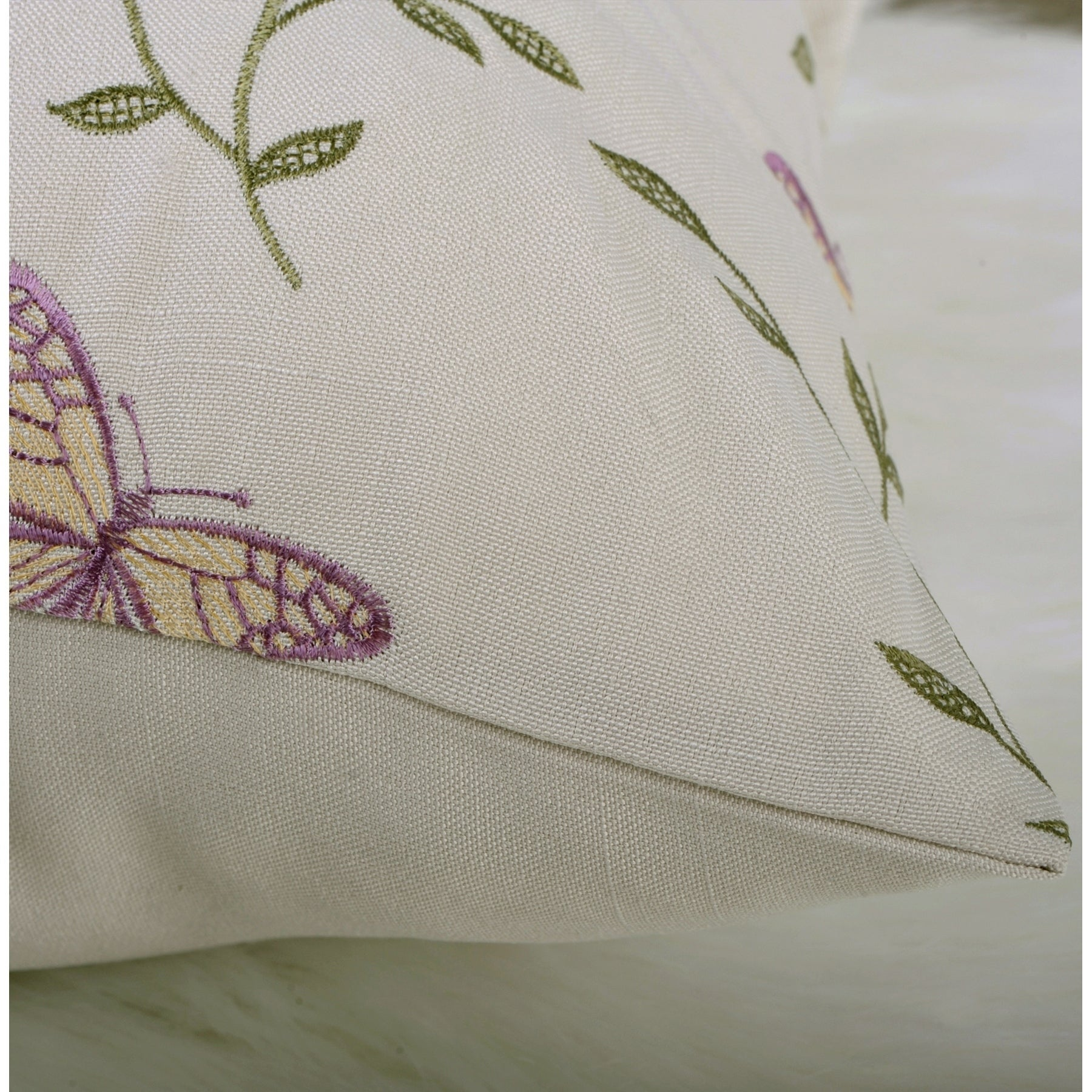 Serenta Butterfly Embroidery Window Valance Pillow Shell Set 56 X 19 Overstock 26269931