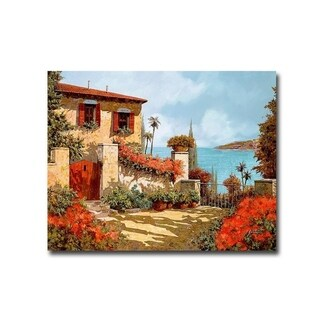 Il Giardino Rosso (The Red Garden) by Guido Borelli Gallery Wrapped Canvas Giclee Art (22 in x 28 in, Ready to Hang)