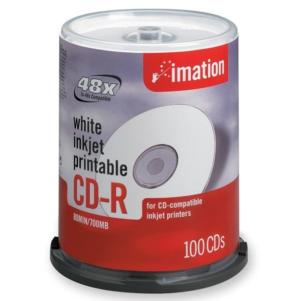 Imation CD Recordable Media - CD-R - 52x - 700 MB - 100 Pack Spindle