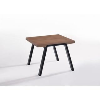 Walnut Brown and Black Wooden End Table