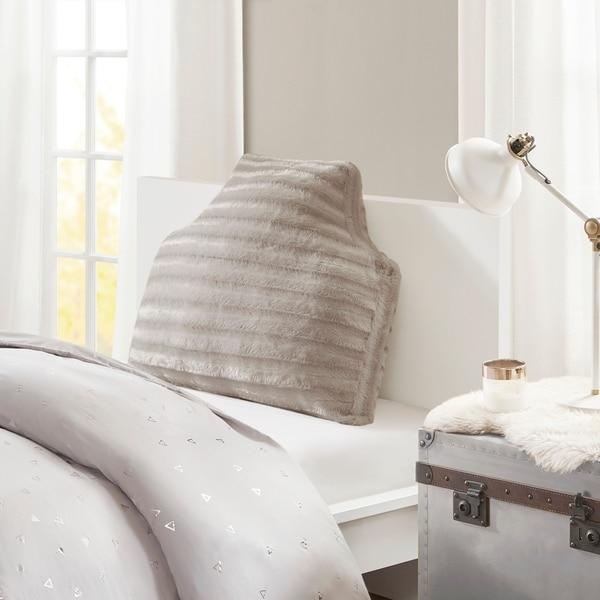Intelligent Design York Oversized Faux Fur Headboard Pillow 2-Color Option