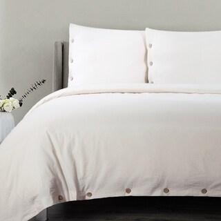 Bedsure 100% Cotton Solid color Duvet Cover Sets 400TC