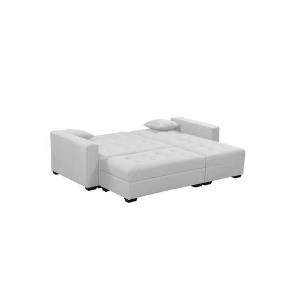Awesome Shop Broyerk 3 Pc Reversible Sectional Sleeper Sofa Bed Ocoug Best Dining Table And Chair Ideas Images Ocougorg