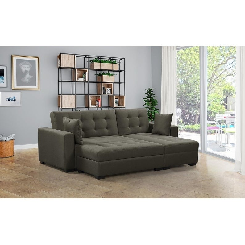 BroyerK 3 pc Reversible Sectional Sleeper Sofa Bed