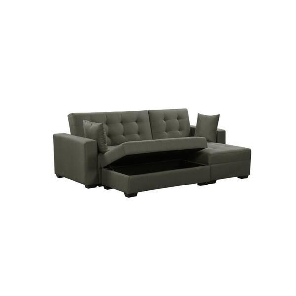 Shop BroyerK 3 pc Reversible Sectional Sleeper Sofa Bed ...