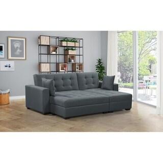 BroyerK 3 pc Reversible Sectional Sleeper Sofa Bed