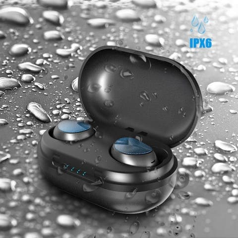 True Wireless Bluetooth 5.0 Earbuds CVC8.0 Touch Control Noise Cancelling IPX6 Waterproof Headphone