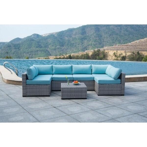 shop broyerk 7 piece sectional patio outdoor furniture set free rh overstock com patio outdoor furniture near me patio outdoor furniture near me