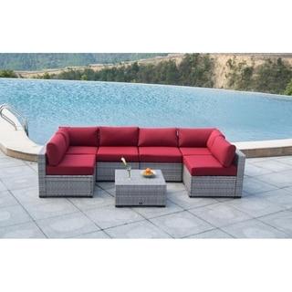 BroyerK 7 Piece Sectional Patio Outdoor Furniture Set