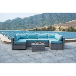 BroyerK 7 piece Sectional Patio Outdoor Furniture Set