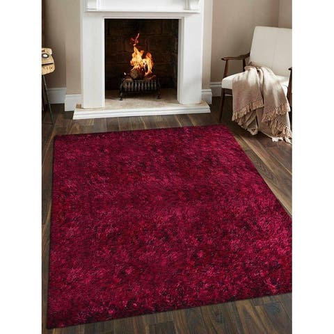 Hand Tufted Shaggy Solid Area Rug - 10' Square