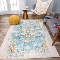The Curated Nomad Sunset Bohemian Vintage Medallion Rug