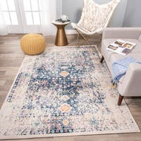 The Curated Nomad Sunset Distressed Oriental Floral Rug