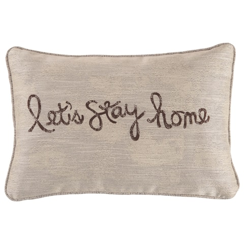 """Lets Stay Home"" Throw Pillow"
