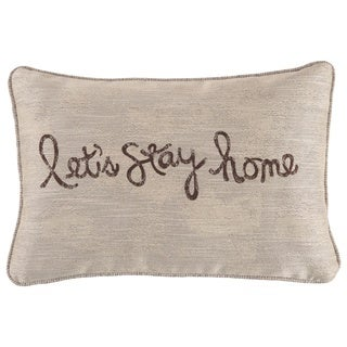 """""""Lets Stay Home"""" Throw Pillow"""