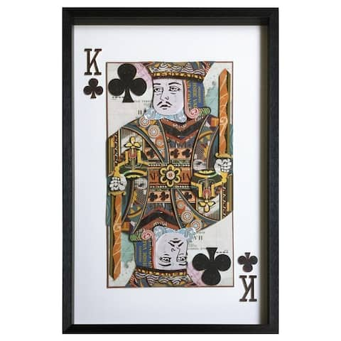 Yosemite Home Décor King of Clubs Original 3D Collage Wall Art - Multi-color