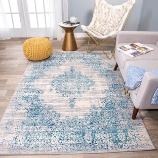 The Curated Nomad Sunset Vintage Distressed Traditional Rug