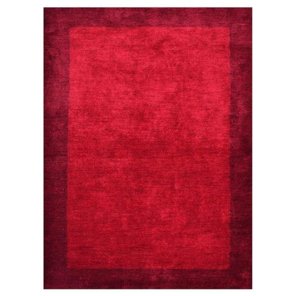 Hand Knotted Gabbeh Silk Solid Area Rug 5 X 8 Overstock 26272468