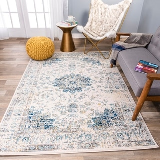 Traditional Distressed Oriental Rug