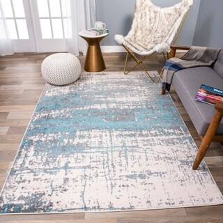 Distressed Modern Abstract Rug