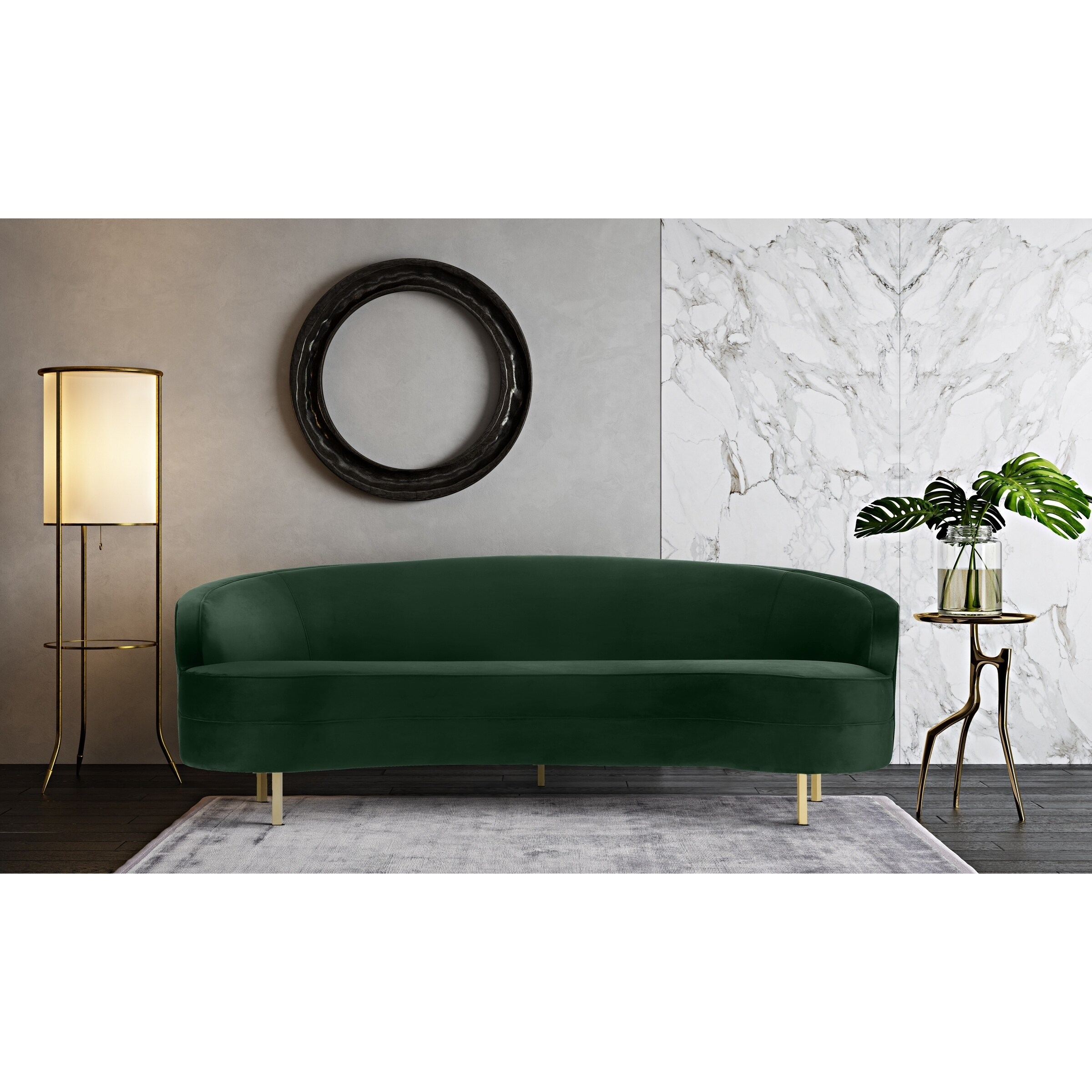 Baila Green Velvet Sofa