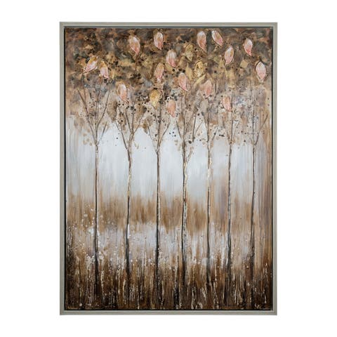 Yosemite Home Décor Golden Alley Mixed Media Handpainted Wall Art - Multi-color