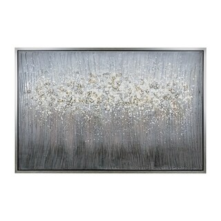 Yosemite Home Décor Hazy Pearls Mixed Media Handpainted Wall Art - Multi-color