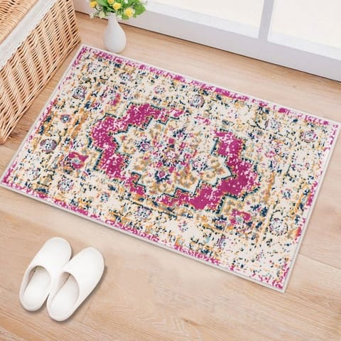 Porch & Den Backcourt Distressed Bohemian Medallion Rug