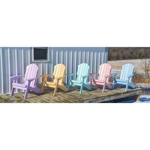 Folding Adirondack Chair - Seaside Style - Poly Lumber