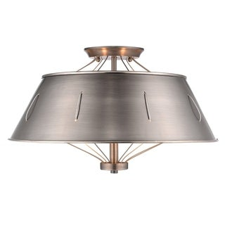 Whitaker Semi-Flush Mount in Aged Steel - Aged Steel