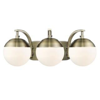 Carbon Loft Barton 3-light Opal Glass Bath Vanity
