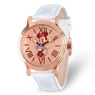 Versil Disney Adult Size Minnie Mouse with Moving Arms Rose-tone Watch