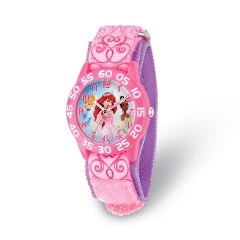 Disney Princess Kids Acrylic Pink Strap Time Teacher Watch by Versil
