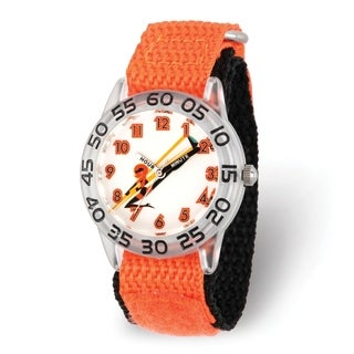 Versil Disney Kids Incredibles 2 Mom Orange Nylon Strap Time Teacher Watch