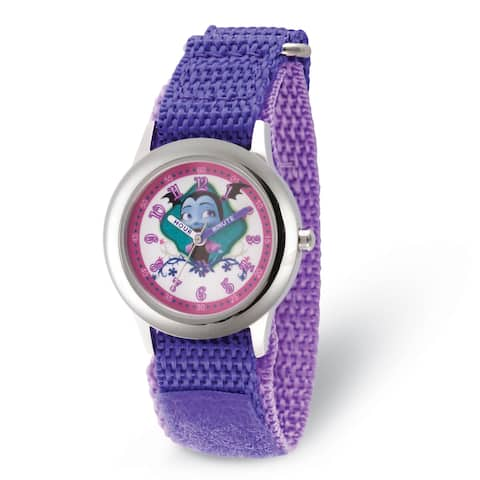 Versil Disney Kids Vampirina Purple Strap Time Teacher Watch