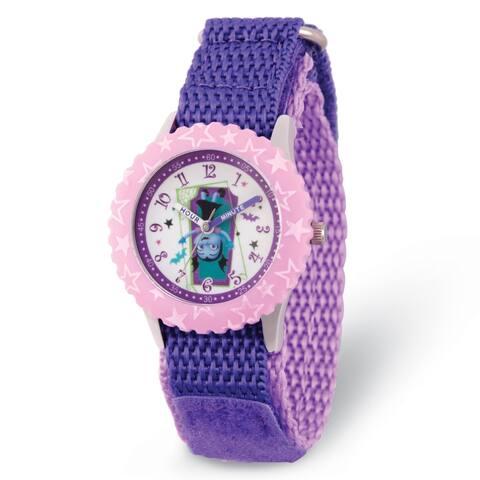 Disney Kids Vampirina Purple Strap Time Teacher Watch by Versil