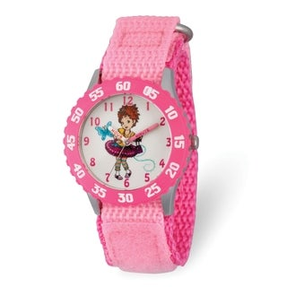 Versil Disney Kids Fancy Nancy Pink Nylon Band Time Teacher Watch