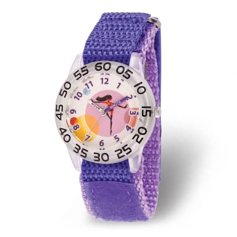 Disney Kids Incredibles 2 Daughter Purple Nylon Time Teacher Watch by Versil
