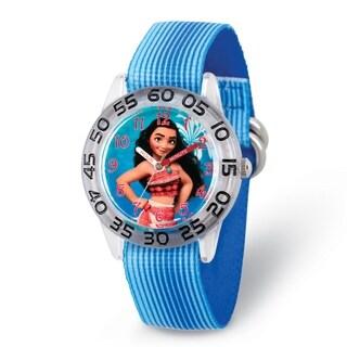 Versil Disney Kids Moana Blue Strap Acrylic Time Teacher Watch