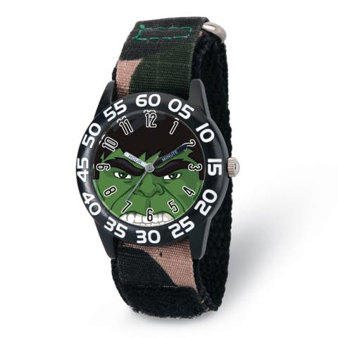 Versil Marvel Hulk Camo Strap Acrylic Time Teacher Watch