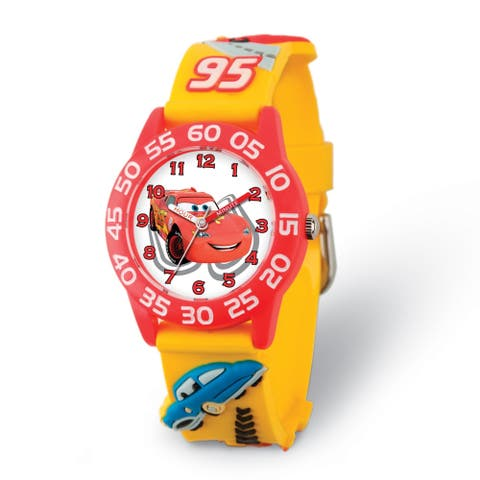 Disney Kids Cars Lightning McQueen Acrylic Time Teacher Watch by Versil