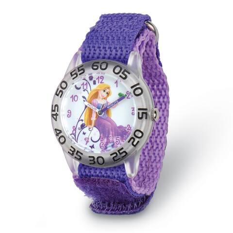 Disney Kids Rapunzel Purple Strap Acrylic Time Teacher Watch by Versil