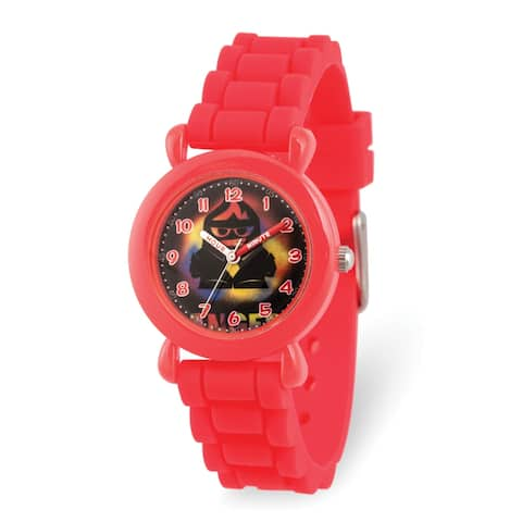 Versil Disney Kids Inside Out Anger Red Silicone Band Time Teacher Watch