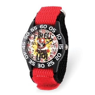 Versil Disney Kids Inside Out Fired Up Red Nylon Band Time Teacher Watch